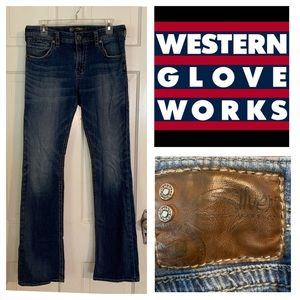 Silver CHACE Western Glove Works Boot Cut Jeans